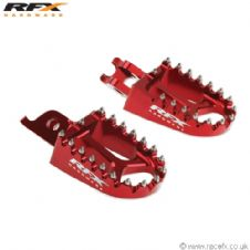 Rfx Trick Wide Footpegs Red CR CRF 125/150/250/450